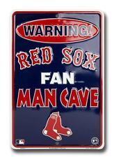 Warning Boston Red Sox Fan Man Cave Aluminum Sign MLB Baseball Cards Game Room