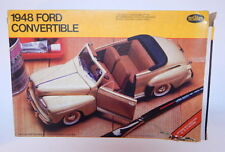 1/25 Scale Testors 1948 Ford Convertible Model Kit NIOB w Instructions R12121