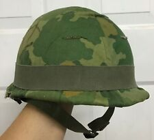 Vietnam M-1 Helmet with Cover, Helmet band, Early Linear, Correct shell