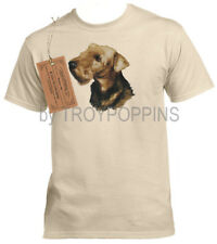 1-Mens Wear-Airedale Terrier Dog Breed Pet Puppy Lover T-Shirt Graphic Printed