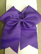 CHIFFON 7.5in Large Jumbo Goody Cheer Bows Hair Ties Cheerleading Pony Tail
