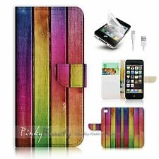 ( For iPhone 5 / 5S / SE ) Wallet Case Cover! P1104 Wood Fence