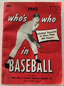 Who's Who Baseball Magazine ,Don Drysdale, Mickey Mantle, Nice! (B6)