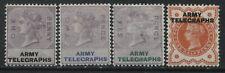 Great Britain QV overprinted Army Telegraphs mint o.g. hinged