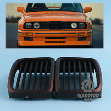 For BMW E30 3 Series Shadow Black Front Sport Kidney-Grilles Grill M3 1982-1994