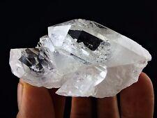 "3"" Clear Quartz Crystal Point Cluster 124g Large Natural Lemurian Specimen Stone"