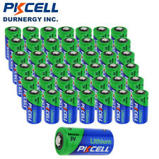 50 PKCELL Ultra DL123A CR123A 123 3V Batteries Fresh Dated 2025 PKCELL CA Seller
