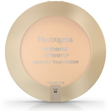 Neutrogena Mineral Sheers Powder Foundation, Nude [40] 0.34 oz (Pack of 3)