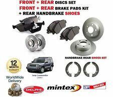 FOR JEEP COMMANDER 2005-2010 FRONT + REAR BRAKE DISCS SET +  PADS  + SHOES KIT