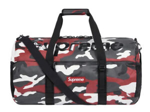 SUPREME DUFFLE BAG RED CAMO OS (SS21) (IN HAND) 100% AUTHENTIC BRAND NEW