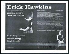 1959 Erick Hawkins photo dance performance tour booking trade print ad