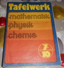 DDR Tabellen und Formeln +Tafelwerk +Schulbuch Mathe Physik Chemie  EOS Kl  7-10