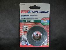tesa POWERBOND 55750 OUTDOOR bis 10kg/m Montageband 1,5m x 19mm (1m = 5,27€)