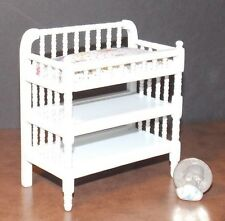 Dollhouse Miniature Victorian White Changing Table 1:12  one inch scale D64