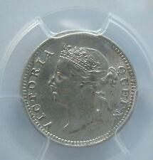 STRAITS SETTLEMENTS Malaysia 5 cents 1899 PCGS AU 55 UNC RARE & KEY