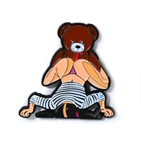 Face Down Ass Up Teddy Bear Funny Adult Art Pin