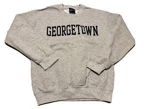 Georgetown University MV Sport Mens Sweatshirt  Heathered Gray Crew Neck S