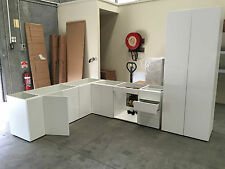 complete Kitchen Set flat pack kitchen cabinet glossy white softclose