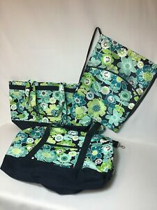 NWOT Thirty One Easy Breezy Large Beach Tote + Cinch Sack + Duffle