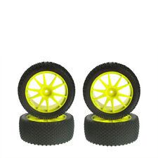 complet de Pneus microsquare jaune 4 pièces KYOSHO ihth-02y 703273