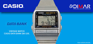 Vintage Casio Data Datenbank DB-520. Qw 675 Japan, WR.50m. AÑO1987