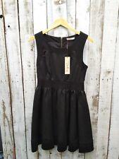 Darling Black Metallic A-Line Dress - Was Selling At Yoox / Asos / Topshop