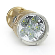 Gold SKYRAY King CREE XM-L 6T6 LED 8500lm LED Flashlight Torch Lamp USE 4x 18650