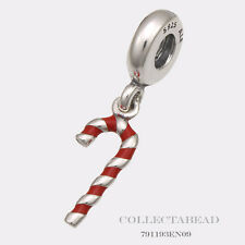 Authentic Pandora Sterling Silver Dangle Candy Cane Bead  791193EN09