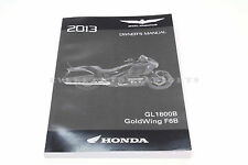 New Owners Manual 2013 GL1800B/BD F6B F6BD Goldwing Honda Operators Book #F00