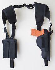 Shoulder Holster- Dbl Mag Pch for HI POINT 40,45 with Mounted Underbarrel Laser