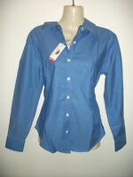 Ladies Blue Oxford Office Casual Fruit of the Loom shirt Long sleeve Size 8 & 16
