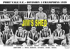 PORT VALE F.C.TEAM PRINT 1959 (DIVISION 4 CHAMPS)
