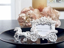 50 White Cinderella Coach Quinceanera Sweet 16 Place Card Photo Frame Favor