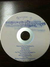 EARLY TELEPHONE CO CATALOGS 2 CDs 20 catalogs, history of the telephone REDUCED!