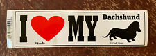 New listing I Love My Dachschund Sticker Decal - Signs Up, Chuck Brown