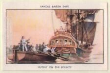 Mutiny HMS Bounty Fletcher Christian William Bligh 60+ Y/O Ad Trade Card
