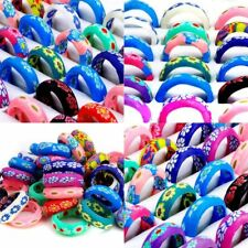 20 pcs/Lot Fashion Soft Polymer Clay Rings Mixed sizes SHIPS FROM USA