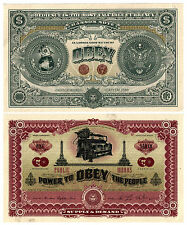 SHEPARD FAIREY OBEY GIANT CURRENCY E PLURIBUS VENOM 2 sided/billets dface/RARE !