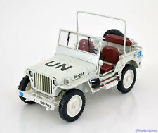 1:18 Welly Willys 1/4 Ton  Army Truck UN 1944 white