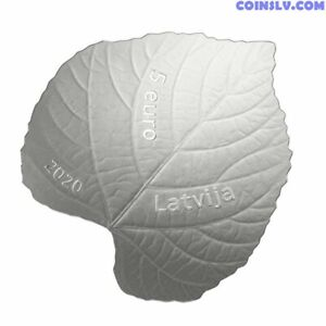 Linden Leaf Latvia Silverproof Limited Edition 'Highly Detailed' €5.00 Coin