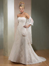 NWT Maggie Sottero 'Grace' Traditional Wedding Dress J857 Ivory Lace Satin 8 10