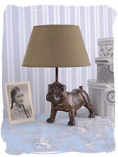 Mopslampe Carlin Tischlampe Mopsfigur Tischleuchte Mops Nachttischlampe