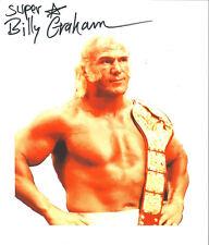 m534 Superstar Billy Graham signed wrestling 8x10 w/Coa