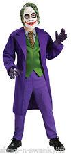 Boys Deluxe Joker Batman Super Hero Villain Book Day Fancy Dress Costume Outfit