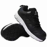 WOMENS LADIES   SAFETY  LIGHT WEIGHT TRAINERS BOOT SHOES BLACK SIZE 3,4,5,6,7,8