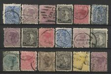 New Zealand Collection 18 QV Stamps Used