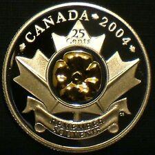 Rare 2004 Canada 25-cent Silver Proof & Gold Poppy U.H.C.