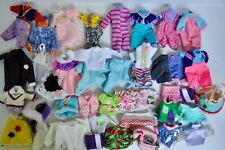 Lot of Very Small Size Doll Clothes Cpk Lil Sprouts, Strawberry Shortcake, Etc