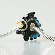 1pcs SILVER MURANO GLASS BEAD LAMPWORK Animal European Charm Bracelet DW388