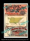 OLD LARGE HISTORICAL LAND SALE ADVERTISING POSTER, MORPETH NSW c1912 BERRY PARK